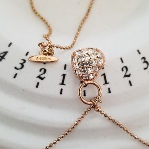 2/$20 Crystal heart necklace by pilgrim
